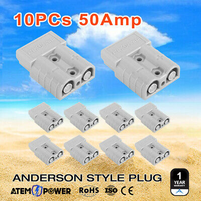 10 x Anderson Style Plug Connectors 50 AMP 12-24V 6AWG DC Power Tool