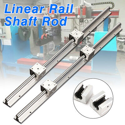 SBR12-600mm 12MM Fully Supported Linear Rail Shaft Rod w/ 2pcs SBR12UU Blocks