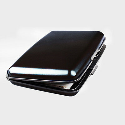 Mini BLACK Aluminum Wallet RFID Blocking Pocket Holder Credit Card Case