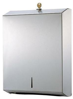 TDSS37 Ozwashroom Stainless Steel Slim Towel Dispenser, Unit is fitted with lock