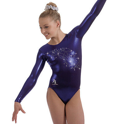 "Milano Pro Sport Gymnastic Leotard 'STAR SWIRL 77648'  Sizes 26""-36"" - NEW"