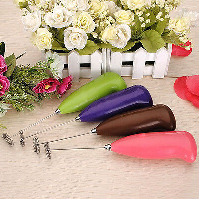 Kitchen Useful Tool Electric Egg Beater Handle Milk Coffee Shaker Whisk Mixer
