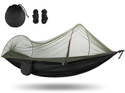 Portable Camping Hammock Garden Outdoor Nylon High Strength Mosquito Net Bed New