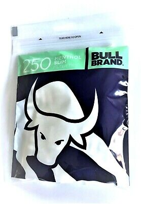 1 2 4 10 20 X 250Bull Brand MENTHOL Cigarette Tobacco Filter Tips Resealable Bag
