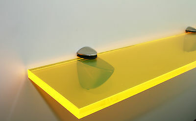 Acrylic Coloured Shelves - Yellow Neon for Interiors