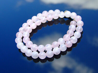 Rose Quartz Natural Gemstone Necklace 8mm Beaded Silver 16-30inch Healing Chakra