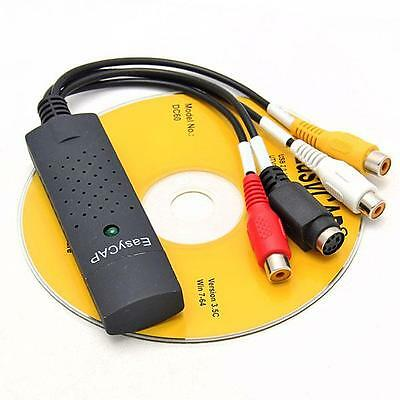 Hot Easycap USB 2.0 Video Audio VHS to DVD Converter Capture Card Adapter FS