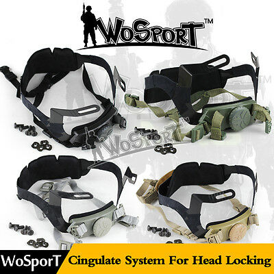 Tactical Airsoft Helmet Accessories Cingulate System Chin Strap for Head Locking