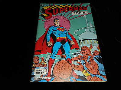 Superman poche 42 Editions Sagédition février 1981