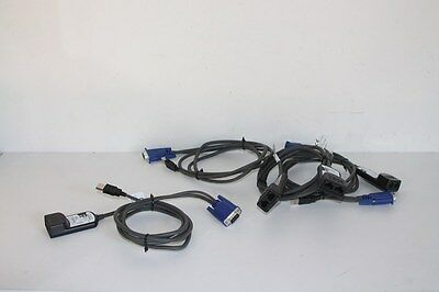 IBM .. lot de 4x .. USB KVM CONVERSION CABLE  .. 39M2899
