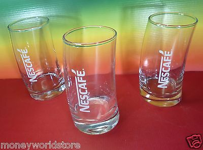 Nescafe Collectible 3 Glass For Greek Frappe Limited New Design Rare,New