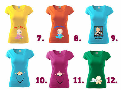 Maternity Pregnancy Funny T-shirt Top Baby Shower Peek a boo Gift Baby Boy Girl