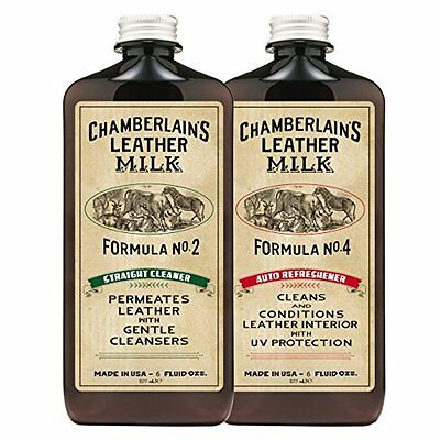 Chamberlain's Leather Milk Auto Leather Care Cleaner & Conditioner Kit