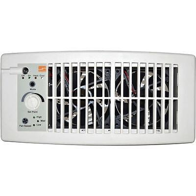Flush Fit Register Booster Fan White Air Circulation Exhaust Vent Heating A/C