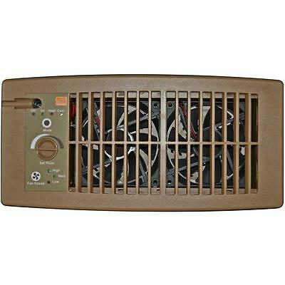Suncourt Register Booster Fan Flush Fit Brown Air Circulation Heater A/C Vent
