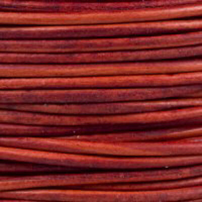 Red - Premium Natural Dye Round Leather Cord  *
