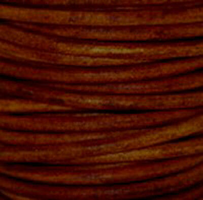 Natural Turkey Red - Premium Natural Dye Round Leather Cord  *