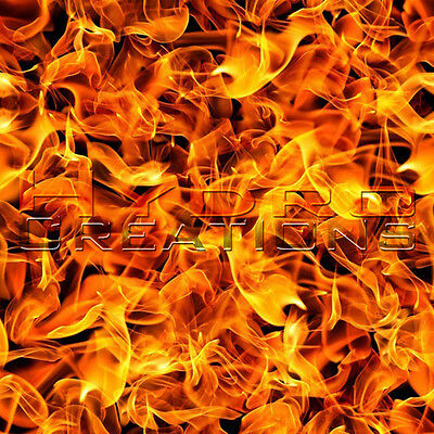 """HYDROGRAPHIC FILM HYDRO DIPPING WATER TRANSFER FILM ORANGE FLAMES - 38.5"""" x 19"""""""