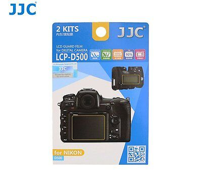 JJC LCP-D500 LCD Guard Film Camera Screen Display Protector for NIKON D500_US