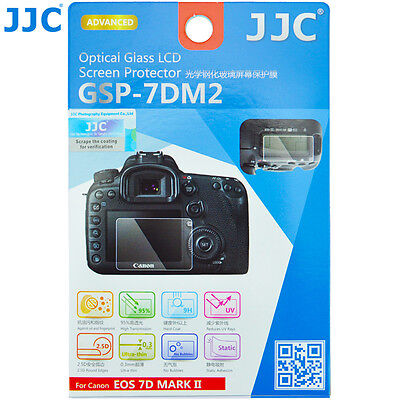 JJC GSP-7DM2 Optical GLASS LCD Screen Protector Film for Canon EOS 7D MARK II_US