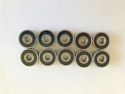 10 pcs R4A 2RS double rubber sealed ball bearing, 1/4x 3/4x 0.218 inch