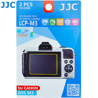JJC LCP-M3 LCD Guard Film Camera Screen Display Protector for CANON EOS M3_US