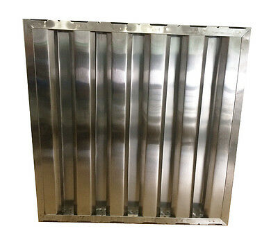 "Box of 6pc Hood Filter / Grease Baffle 20""H x 20""W Stainless Steel Commercial"