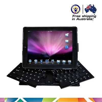 Foldable Bluetooth Skype Keyboard With Detachable Headset For Ipad 2/3