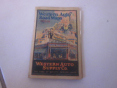 Western Auto Supply Pocket Road Maps Oregon / Map