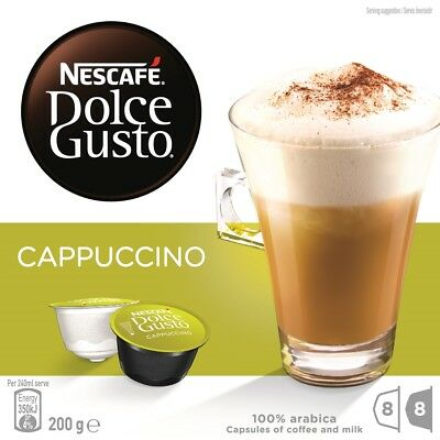 NESCAFE Dolce Gusto Cappuccino 8 Coffee and 8 Milk Pods Capsules