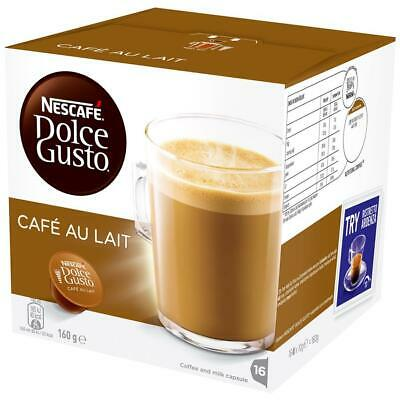 NESCAFE Dolce Gusto Cafe Au Lait 16 Coffee Pods Capsules