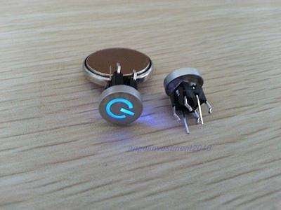 1PC Blue Led Dia 10mm Cap POWER 12V Momentary Pluggable Tact Push Button Switch