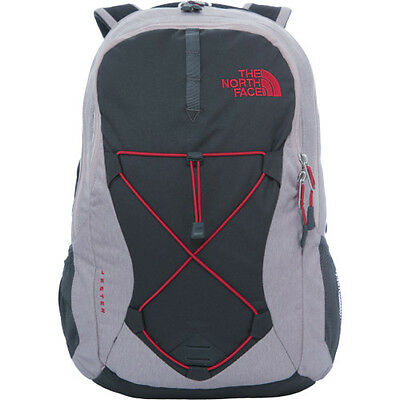 North Face Jester Womens Rucksack - Quail Grey Heather Cerise Pink One Size