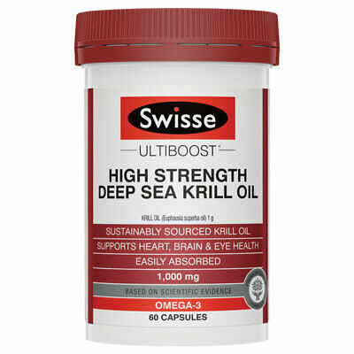Swisse Ultiboost High Strength Deep Sea Krill Oil 1000mg 60 Capsules Exclusiv...