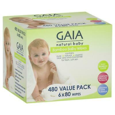 Gaia Natural Baby Bamboo Wipes 480