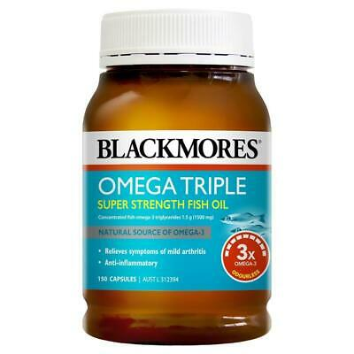 Blackmores Omega Triple Concentration Fish Oil 150 Capsules
