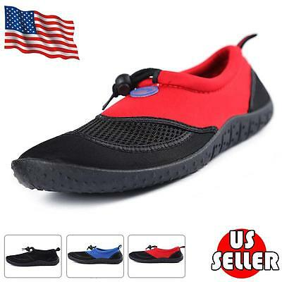 Mens Water Shoes Aqua Socks Sport Running Pool Beach Dance Swim Slip On Surf NEW