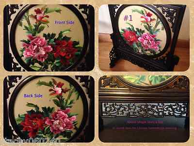 Artistic Two Sides Silk Round Rotatable Embroidery