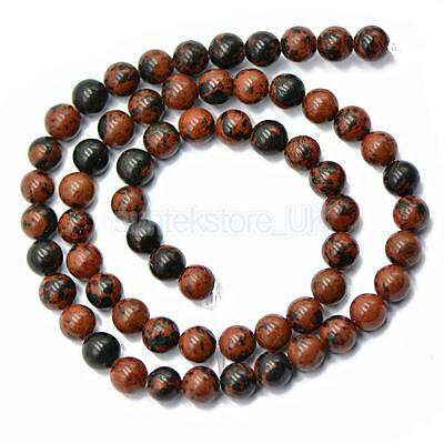 Wholesale Natural Gemstone Round Spacer Loose Beads 6mm Obsidian Beads Red