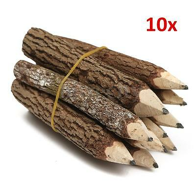 10Pcs Branch & Twig Graphite Pencils Crafts Pen for Journal Writing & Sketching