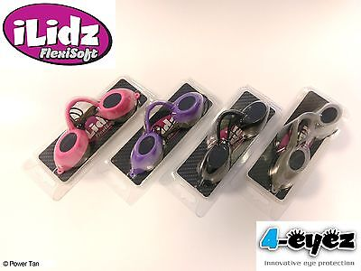 iLidz Flexisoft Sunbed Tanning Eyewear UV Protection Choose from 4 Colours