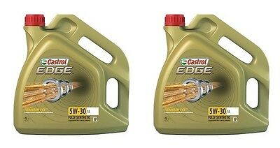 Castrol Edge 5w30 Fully Synthetic Engine Oil 2x4= 8L VW, GM & Longlife (8 Litre)