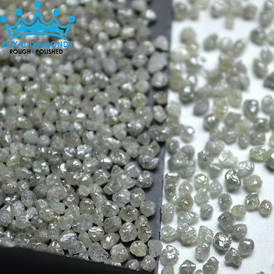 25 crts+ 100% Natural Loose Round Rough Diamonds Light Yellow Earth Mined 2.50mm