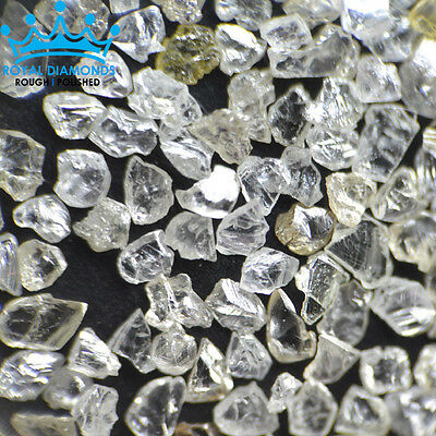 25 crts+ 100% Natural Loose Rough Diamonds Real Flat shape White FL-SI 2.00mm