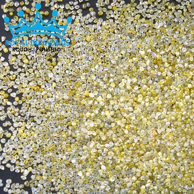 5,10 cts lots Natural Loose Rough Diamonds SPARKLING FANCY YELLOW 1.00mm USA