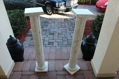 Pair Of Matching Marble Stands