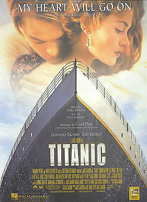 CELINE DION My Heart Will Go On sheet music songsheet  THEME FROM TITANIC