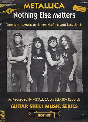 METALLICA  Nothing Else Matters  rare sheet music songsheet