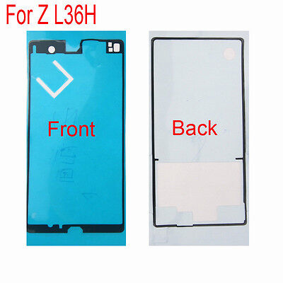 Front + Back Frame Adhesive Sticky Glue Tape For Sony Xperia Z L36H C6603 C6602