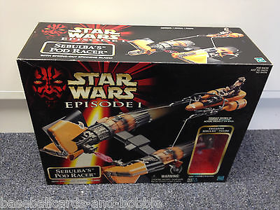 1998 Star Wars Episode I SEBULBA'S POD RACER with Spinning Blade MISB
